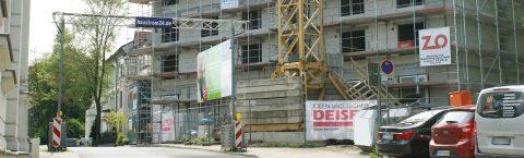 Baustellensicherheit Gerüst-Kabelüberführung